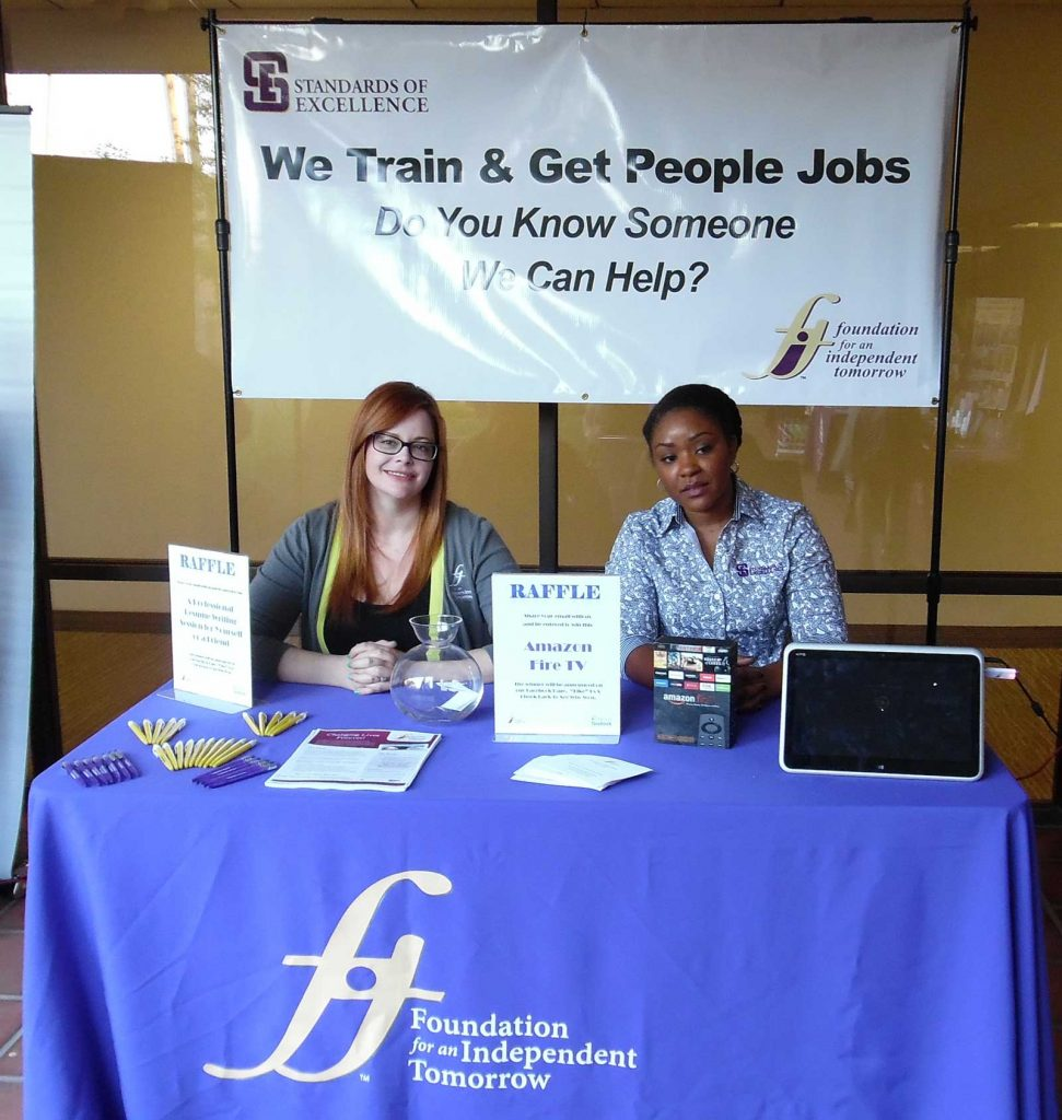 Tabling for FIT at community event.