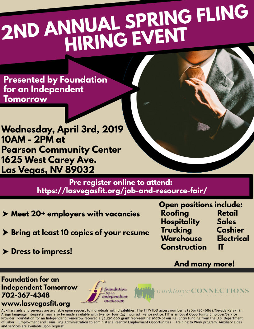 2019 Job Fair Flyer